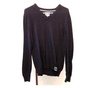 Express V-neck sweater - dark blue